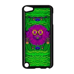 Summer Flower Girl With Pandas Dancing In The Green Apple Ipod Touch 5 Case (black) by pepitasart