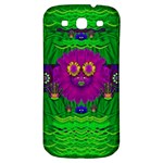 Summer Flower Girl With Pandas Dancing In The Green Samsung Galaxy S3 S III Classic Hardshell Back Case Front