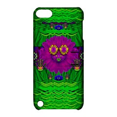Summer Flower Girl With Pandas Dancing In The Green Apple Ipod Touch 5 Hardshell Case With Stand by pepitasart