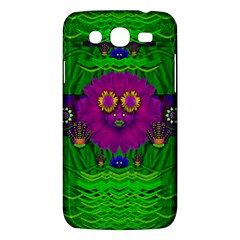 Summer Flower Girl With Pandas Dancing In The Green Samsung Galaxy Mega 5 8 I9152 Hardshell Case  by pepitasart