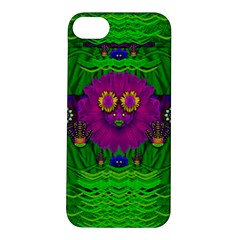 Summer Flower Girl With Pandas Dancing In The Green Apple Iphone 5s/ Se Hardshell Case by pepitasart