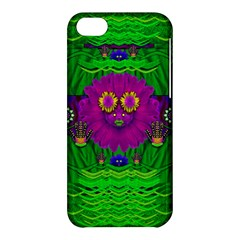 Summer Flower Girl With Pandas Dancing In The Green Apple Iphone 5c Hardshell Case by pepitasart