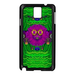 Summer Flower Girl With Pandas Dancing In The Green Samsung Galaxy Note 3 N9005 Case (black) by pepitasart