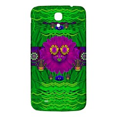 Summer Flower Girl With Pandas Dancing In The Green Samsung Galaxy Mega I9200 Hardshell Back Case by pepitasart