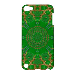 Summer Landscape In Green And Gold Apple Ipod Touch 5 Hardshell Case by pepitasart