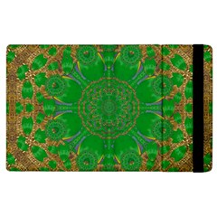 Summer Landscape In Green And Gold Apple Ipad 2 Flip Case by pepitasart