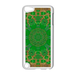 Summer Landscape In Green And Gold Apple Ipod Touch 5 Case (white) by pepitasart