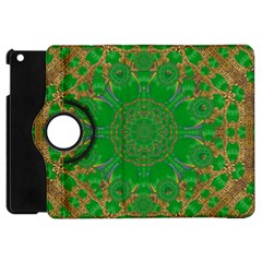 Summer Landscape In Green And Gold Apple Ipad Mini Flip 360 Case by pepitasart