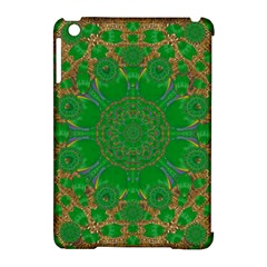 Summer Landscape In Green And Gold Apple Ipad Mini Hardshell Case (compatible With Smart Cover) by pepitasart