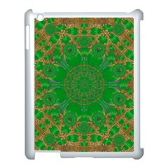 Summer Landscape In Green And Gold Apple Ipad 3/4 Case (white) by pepitasart