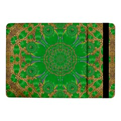 Summer Landscape In Green And Gold Samsung Galaxy Tab Pro 10 1  Flip Case by pepitasart