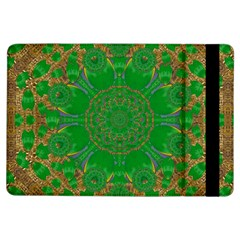 Summer Landscape In Green And Gold Ipad Air Flip by pepitasart