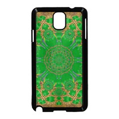 Summer Landscape In Green And Gold Samsung Galaxy Note 3 Neo Hardshell Case (black) by pepitasart