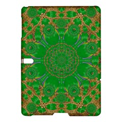 Summer Landscape In Green And Gold Samsung Galaxy Tab S (10 5 ) Hardshell Case  by pepitasart