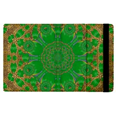 Summer Landscape In Green And Gold Apple Ipad Pro 9 7   Flip Case by pepitasart