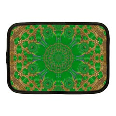 Summer Landscape In Green And Gold Netbook Case (medium)  by pepitasart