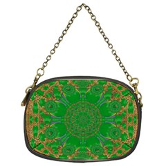Summer Landscape In Green And Gold Chain Purses (one Side)  by pepitasart