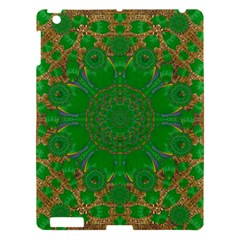 Summer Landscape In Green And Gold Apple Ipad 3/4 Hardshell Case by pepitasart