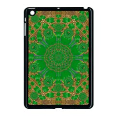 Summer Landscape In Green And Gold Apple Ipad Mini Case (black) by pepitasart