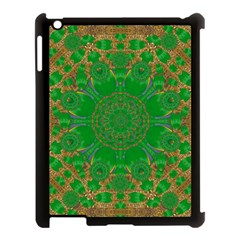 Summer Landscape In Green And Gold Apple Ipad 3/4 Case (black) by pepitasart