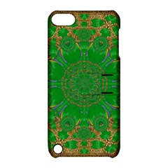Summer Landscape In Green And Gold Apple Ipod Touch 5 Hardshell Case With Stand by pepitasart
