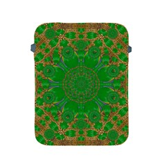 Summer Landscape In Green And Gold Apple Ipad 2/3/4 Protective Soft Cases by pepitasart