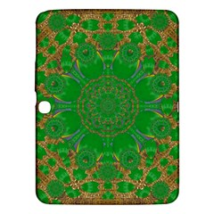 Summer Landscape In Green And Gold Samsung Galaxy Tab 3 (10 1 ) P5200 Hardshell Case  by pepitasart