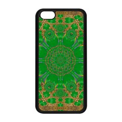 Summer Landscape In Green And Gold Apple Iphone 5c Seamless Case (black) by pepitasart