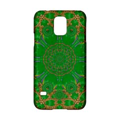 Summer Landscape In Green And Gold Samsung Galaxy S5 Hardshell Case  by pepitasart