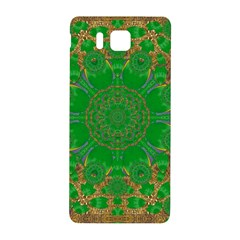 Summer Landscape In Green And Gold Samsung Galaxy Alpha Hardshell Back Case by pepitasart