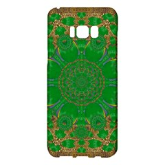 Summer Landscape In Green And Gold Samsung Galaxy S8 Plus Hardshell Case  by pepitasart