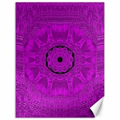 Purple Mandala Fashion Canvas 12  X 16   by pepitasart
