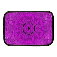 Purple Mandala Fashion Netbook Case (medium)  by pepitasart