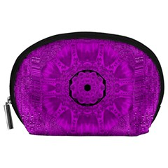 Purple Mandala Fashion Accessory Pouches (large)  by pepitasart