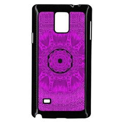 Purple Mandala Fashion Samsung Galaxy Note 4 Case (black) by pepitasart