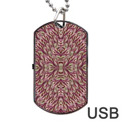 Mandala Art Paintings Collage Dog Tag Usb Flash (one Side) by pepitasart