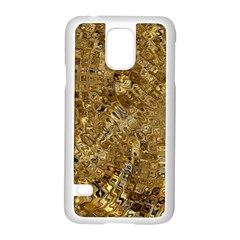 Melting Swirl E Samsung Galaxy S5 Case (white) by MoreColorsinLife