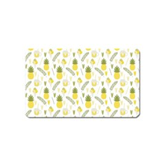 Pineapple Fruit And Juice Patterns Magnet (name Card) by TastefulDesigns