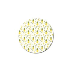 Pineapple Fruit And Juice Patterns Golf Ball Marker (10 Pack) by TastefulDesigns