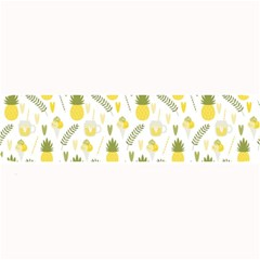 Pineapple Fruit And Juice Patterns Large Bar Mats by TastefulDesigns