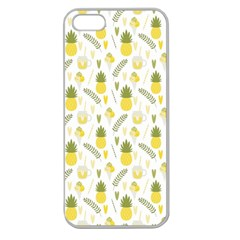 Pineapple Fruit And Juice Patterns Apple Seamless Iphone 5 Case (clear) by TastefulDesigns