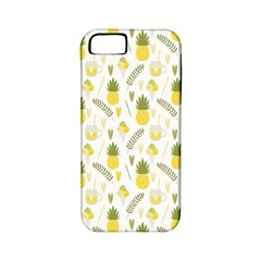Pineapple Fruit And Juice Patterns Apple Iphone 5 Classic Hardshell Case (pc+silicone) by TastefulDesigns