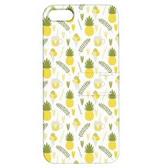 Pineapple Fruit And Juice Patterns Apple Iphone 5 Hardshell Case With Stand by TastefulDesigns