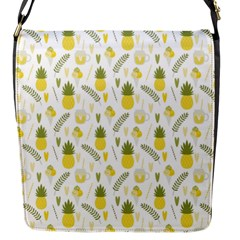 Pineapple Fruit And Juice Patterns Flap Messenger Bag (s) by TastefulDesigns