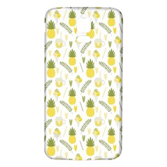 Pineapple Fruit And Juice Patterns Samsung Galaxy S5 Back Case (white) by TastefulDesigns