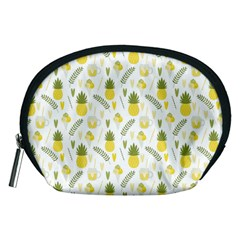 Pineapple Fruit And Juice Patterns Accessory Pouches (medium)  by TastefulDesigns