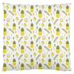 Pineapple Fruit And Juice Patterns Standard Flano Cushion Case (one Side) by TastefulDesigns