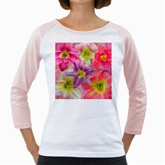 Wonderful Floral 22a Girly Raglans by MoreColorsinLife