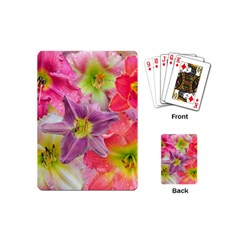 Wonderful Floral 22a Playing Cards (mini)  by MoreColorsinLife