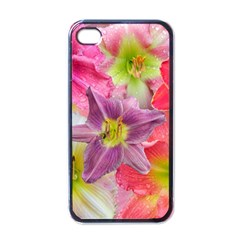Wonderful Floral 22a Apple Iphone 4 Case (black) by MoreColorsinLife